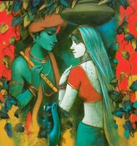 Subrata Das l Rhythm of Love l 36 x 36 inches
