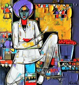 Girish Adannavar painting buy on IndianArtPlace.com
